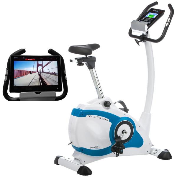 Ergometer Skandika Ulisses mit iConsole App, Google Street View- Heimtrainer, Indoor fahrrad