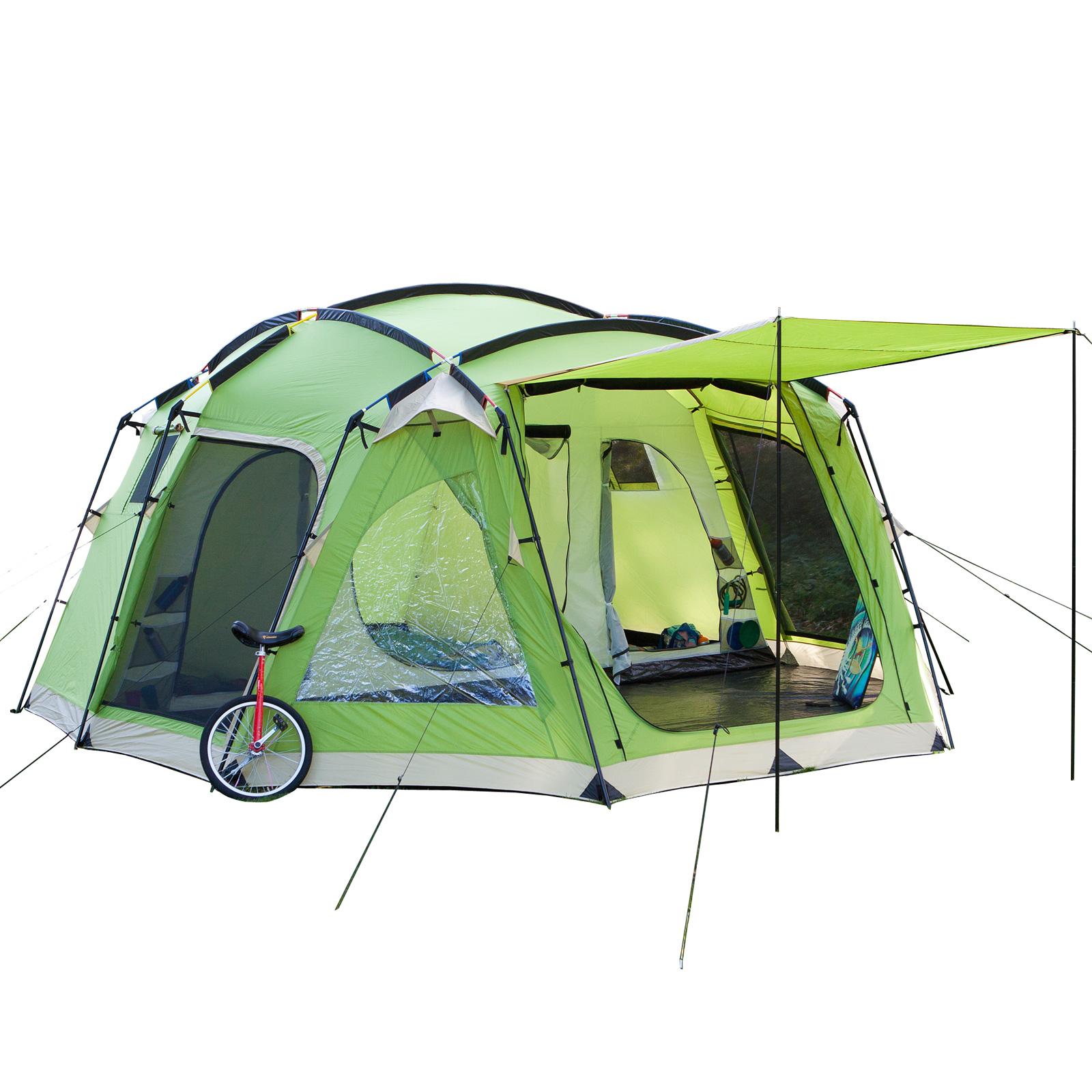 familienzelt skandika copenhagen 6 bis 8 mann personen camping zelte 5000mm ws gr n max. Black Bedroom Furniture Sets. Home Design Ideas