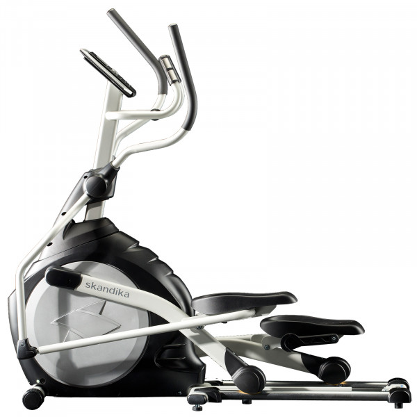 Crosstrainer skandika CardioCross Carbon Pro Ellipsentrainer Elliptical Machine (silber)