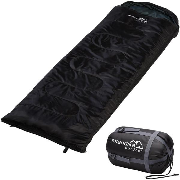Schlafsack SKANDIKA Skye schwarz (links)