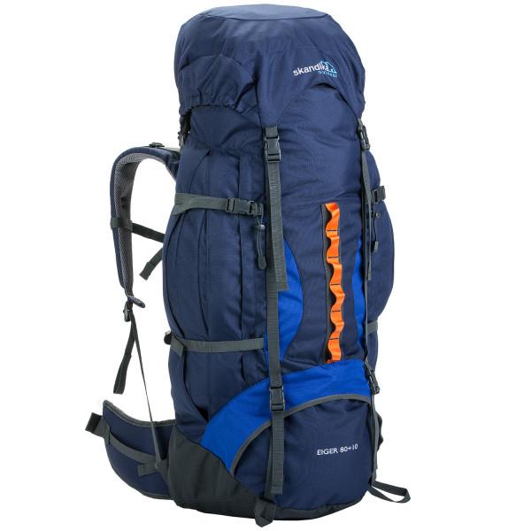 Trekking-Rucksack SKANDIKA Eiger 80+10 (blau)