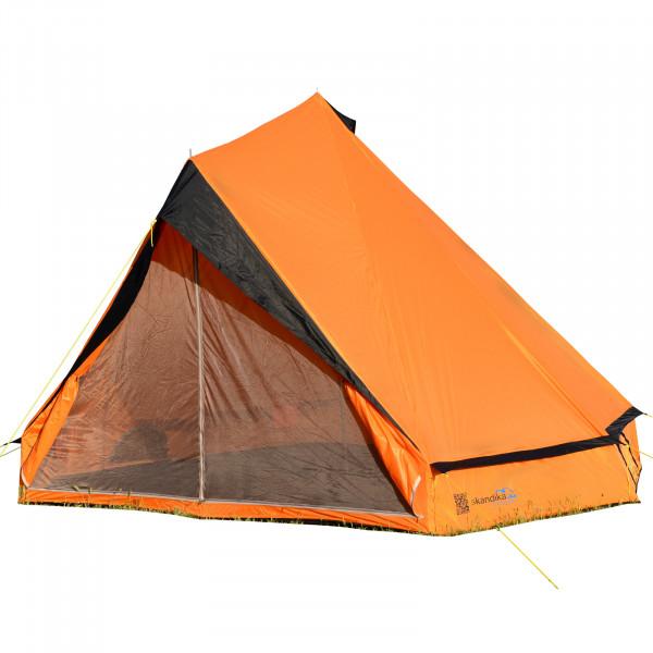 Tipi Wigwam Partyzelt SKANDIKA Comanche 8 personnen Teepee Indianerzelt (orange/schwarz)