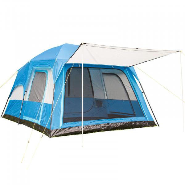 Hauszelt SKANDIKA Tonsberg 5 Personen Familien-Campingzelt (blau)