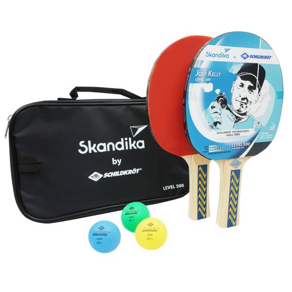 SKANDIKA Tischtennisschläger-Set mit 3 Bällen