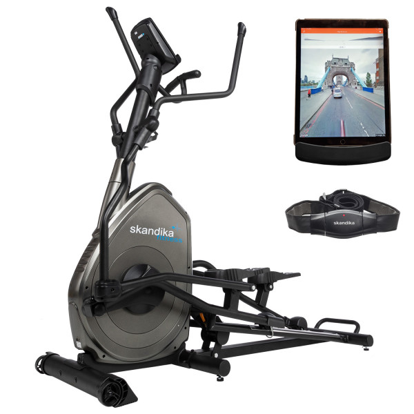 Crosstrainer Skandika Advance - Ellipsentrainer mit iConsole App + Google Street View Ansicht
