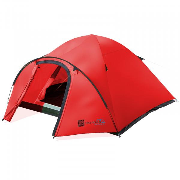 Trekking-Zelt SKANDIKA Larvik 3 Personen Leicht Camping Zelt(rot)