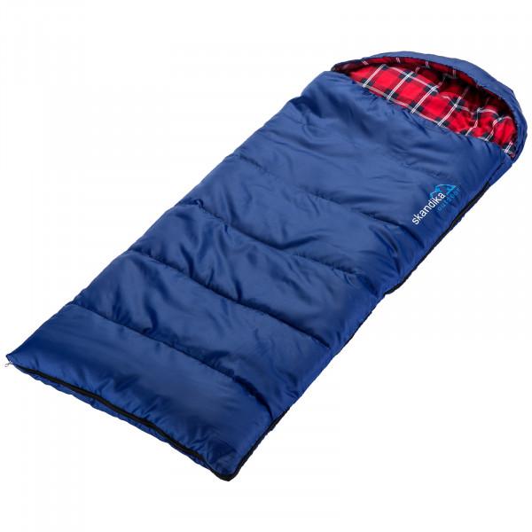 Kinderschlafsack Dundee Junior (blau/rot-kariert)