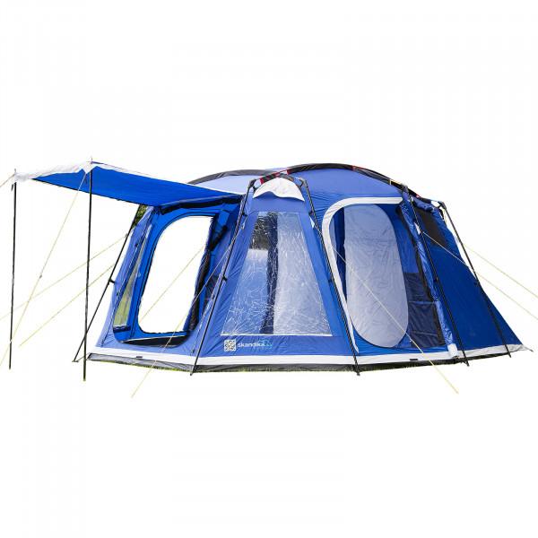 Familienzelt SKANDIKA Copenhagen6 Mann Personen Campingzelt - 5000mm WS (Blau)