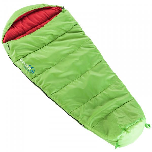 Kinder-Schlafsack SKANDIKA Vegas Junior (grün/rot)