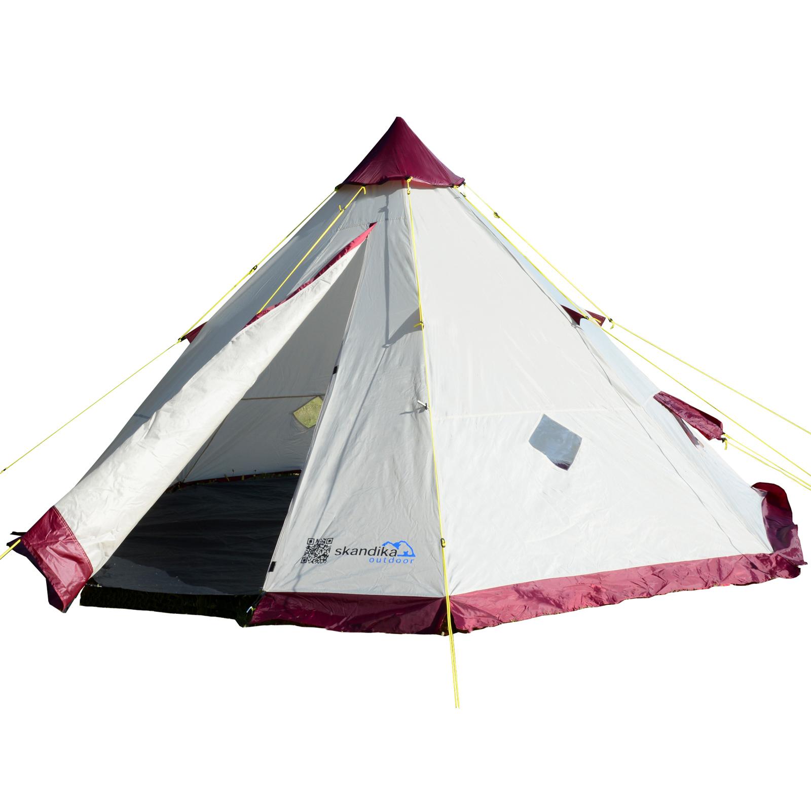 wigwam tipi indianerzelt skandika tipii 200 6 personnen teepee pyramidenzelt max trader gmbh. Black Bedroom Furniture Sets. Home Design Ideas