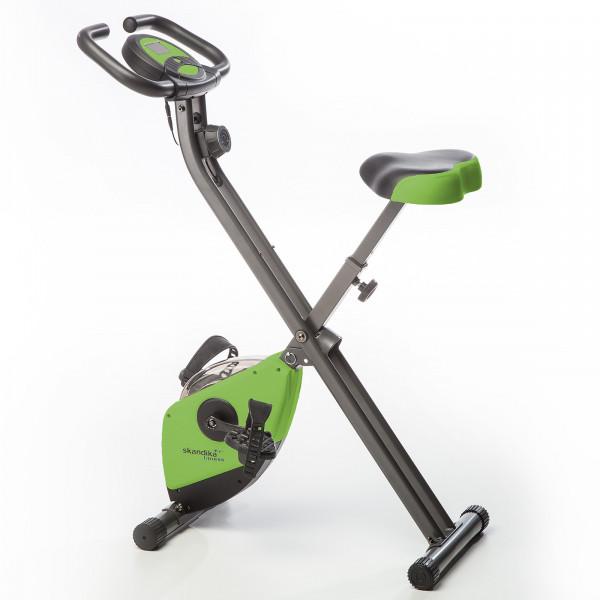 Heimtrainer SKANDIKA Foldaway X-1000 X-bike / F-bike klappbar mit Handplus-Sensoren (grün)