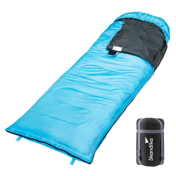 Schlafsack SKANDIKA Skye blau (rechts)