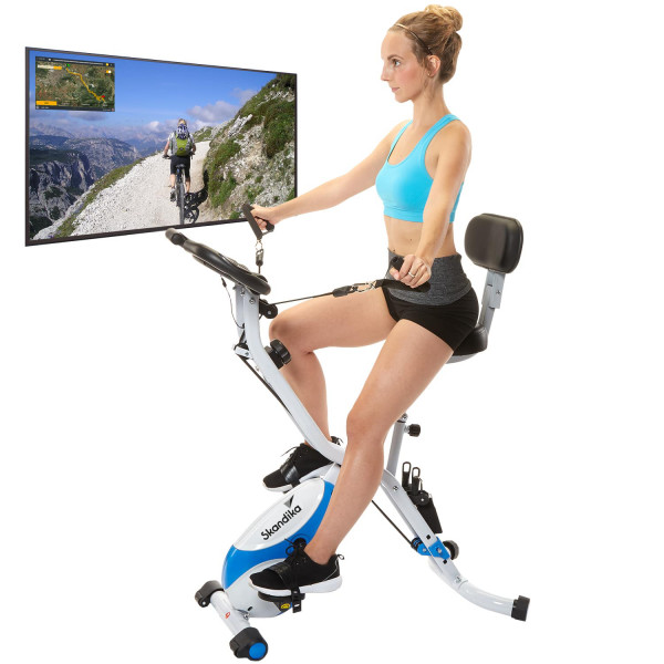 Skandika F-Bike Foldaway X-3000 (blau/weiß)