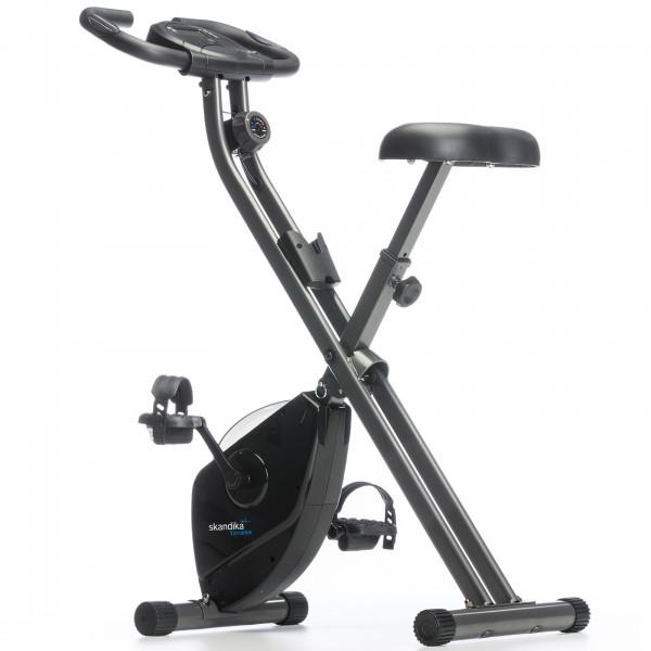 Heimtrainer SKANDIKA Foldaway X-1000 X-bike / F-bike klappbar mit Handplus-Sensoren (schwarz)