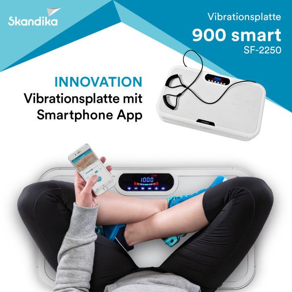skandika 900 Smart Vibrationsplatte- 3D Wipp Vibrations mit Trainings-App