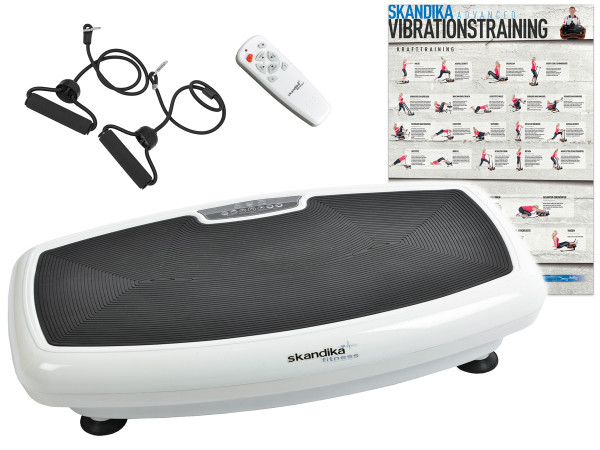 Vibrationsplatte SKANDIKA Vibration Plate 600 Vibrationsgerät Fitness weiß