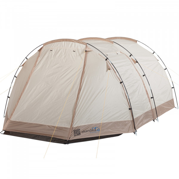 Campingzelt SKANDIKA Alavu 4 Pers. (beige/braun)