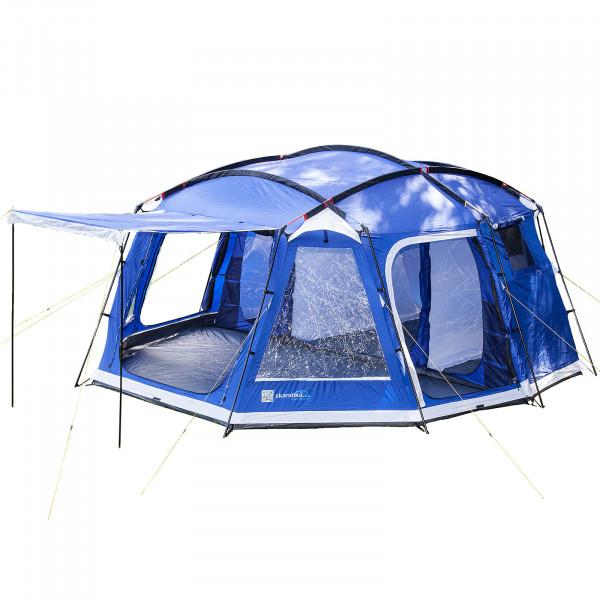 Familienzelt SKANDIKA Copenhagen 8 Mann Personen Campingzelt - 5000mm WS (Blau)