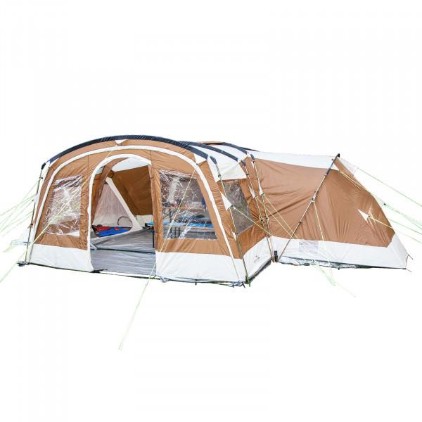 Familienzelt SKANDIKA Nimbus 12 Personen - 5000mm WS, 3 Schlafkabinen (beige)
