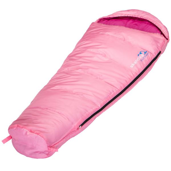 Kinder-Schlafsack Skandika Vegas Junior, 170 x 70 cm, + 13 bis -12 °C, Mikrofaser, Pink
