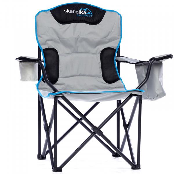 SKANDIKA Camping Stuhl Deluxe aus Polyester mit Getränkehaltern Angelstuhl, Gartenstuhl, Klappstuhl,