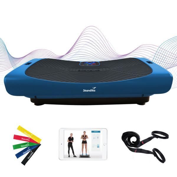 4D Vibrationsplatte V3000 Mit 3 Motoren mit 40 Hz Hochfrequenz (Blau)