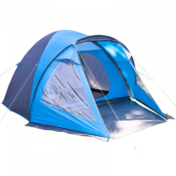 Kuppelzelt SKANDIKA Drammen 5 Personen Trekking Camping zelt (blau)