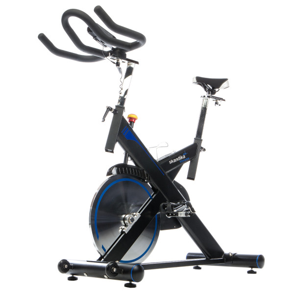 Fitnessbike SKANDIKA Hyporion Speedbike Pro Indoor Cycle mit App Steuerung, Heimtrainer Fahrrad