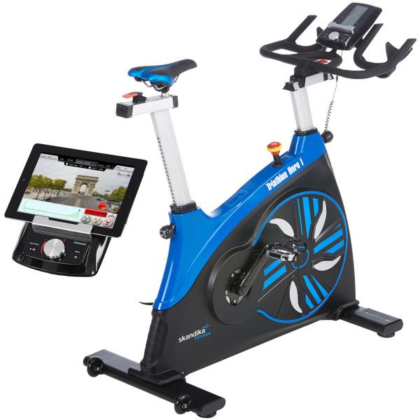 SKANDIKA Professionelles Speedbike HERO I,Heimtrainer Indoor Fahrrad mit App Steuerung, Fitness Bike